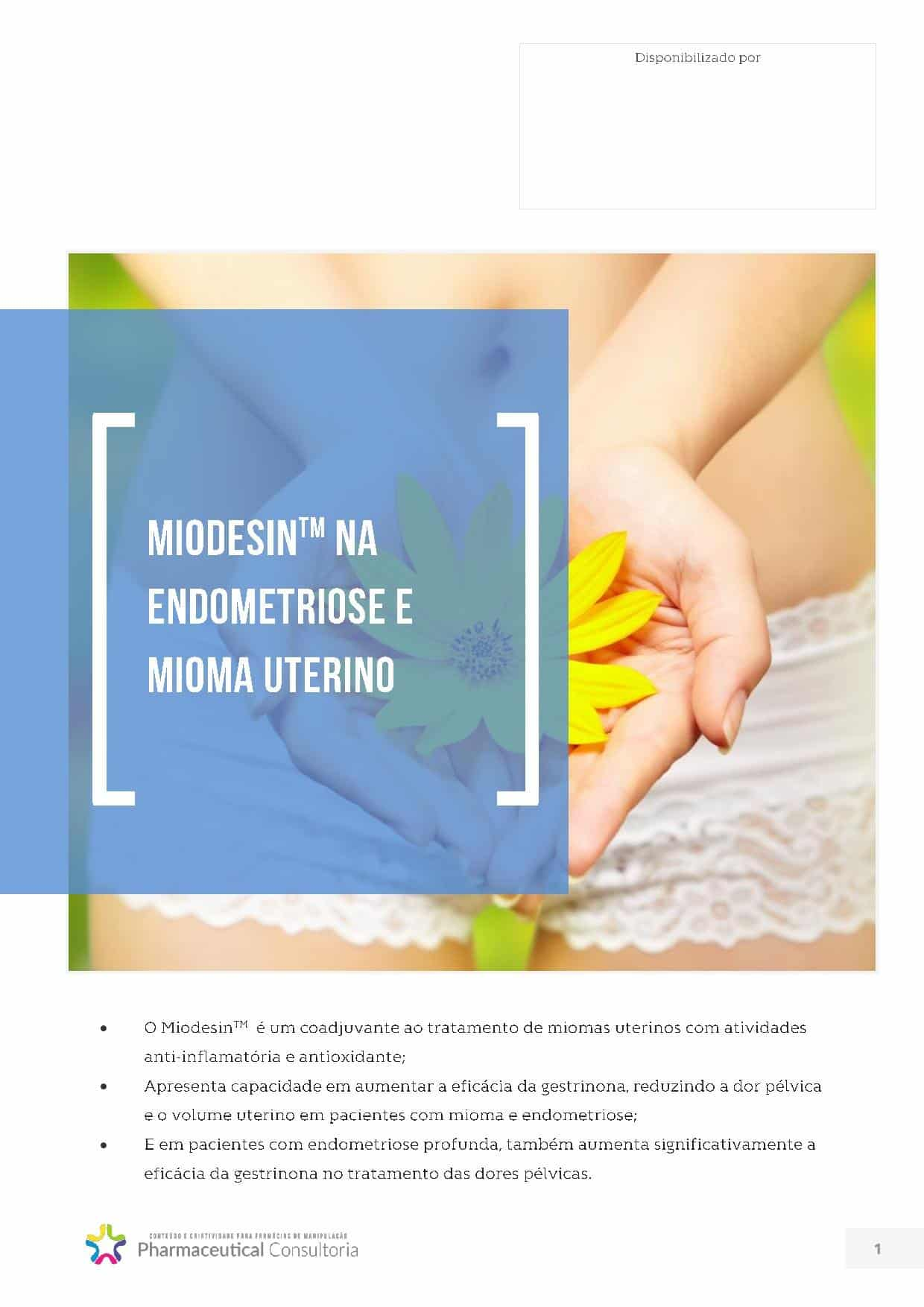 Miodesin na Endometriose e Mioma Uterino