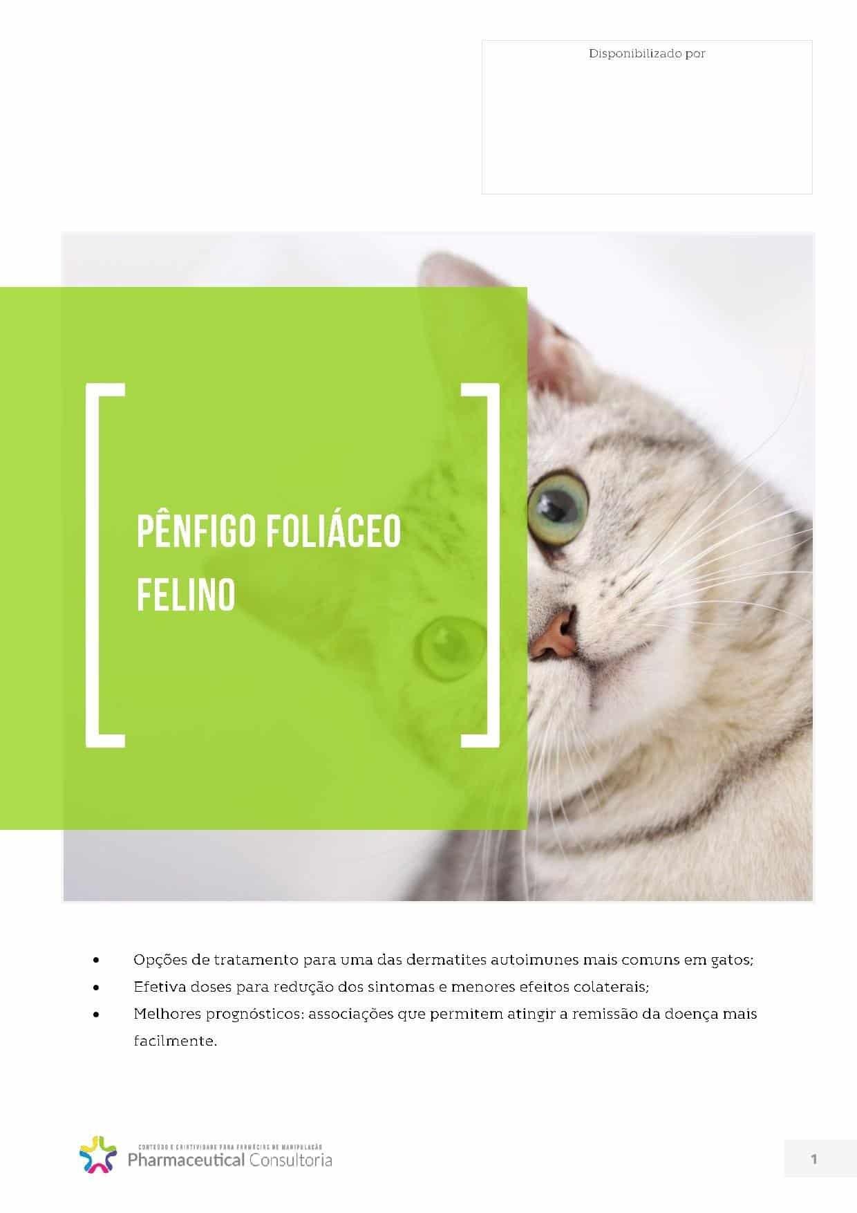 Pênfigo Foliáceo Felino